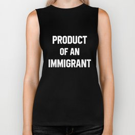 Product Of An Immigrant Anti Trump Democrat Love Yoga Black Basic Men_s Yoga Biker Tank