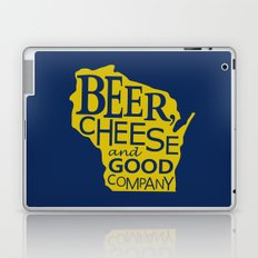 Blue and Gold Beer, Cheese and Good Company Wisconsin Graphic Laptop & iPad Skin
