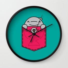 Pocket Dolphin Wall Clock