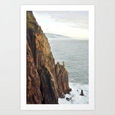 Lower Neahkahnie Mountain Ocean Spires, Oregon Coast Landscape Art Print