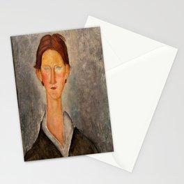 "Amedeo Modigliani ""Portrait Of A Student (L'Etudiant)"" Stationery Cards"