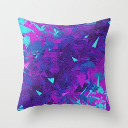 Pink, Purple, and Blue Triangles 2 Throw Pillow