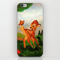 bambi iPhone & iPod Skins featuring Bambi by Jadie Miller