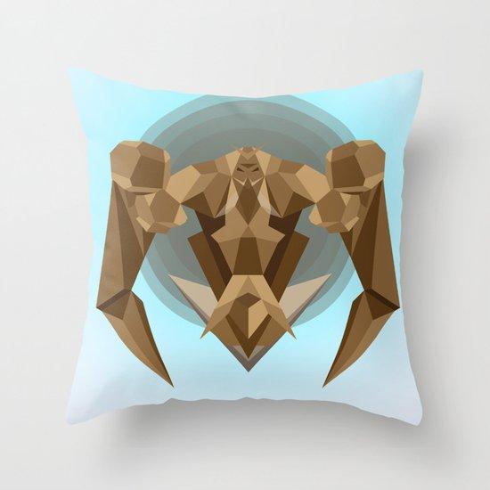 Chocolate Robot Throw Pillow