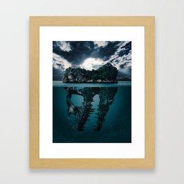 Mystere island Framed Art Print