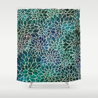 floral Shower Curtains featuring Floral Abstract 4 by Klara Acel