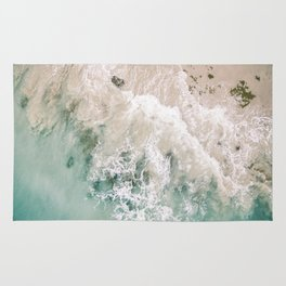Frothy Fourth Beach Rug