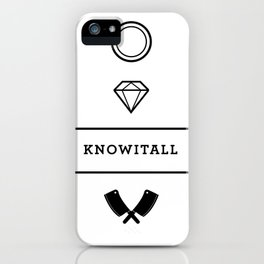 Knowitall iPhone Case