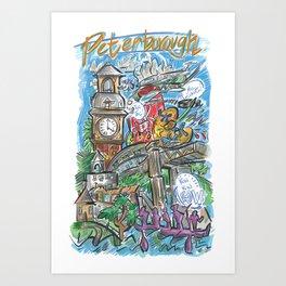 PTBO Mashup Art Print