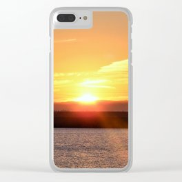 Morning Glory Clear iPhone Case