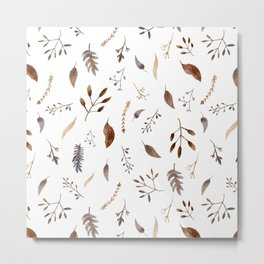 """Dried flowers"" white Metal Print"