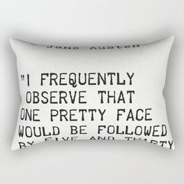 Jane Austen quote Rectangular Pillow