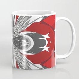 Red Black and White Kaleidoscope Coffee Mug