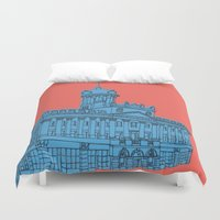 jennifer lawrence Duvet Covers featuring St. Lawrence Hall by Beacon Design