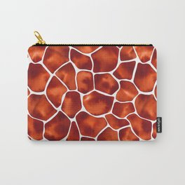 Watercolor Giraffe's Spots (Brown) Carry-All Pouch