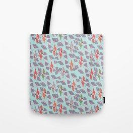 Humming Birds - Aqua Tote Bag