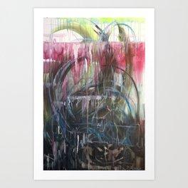 Tears heart Art Print