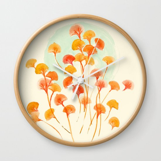 The bloom lasts forever Wall Clock