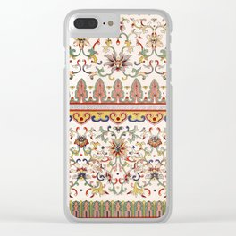 Asian Floral Pattern 6 in White Antique Clear iPhone Case