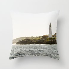 Lighthouse in Portland, Maine. Throw Pillow