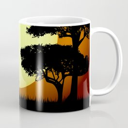 Safari elephants at sunset Coffee Mug