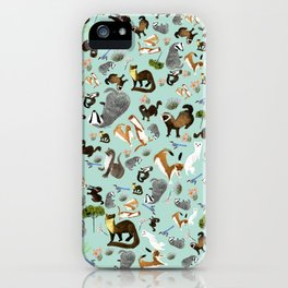 Mustelids from Spain pattern iPhone Case