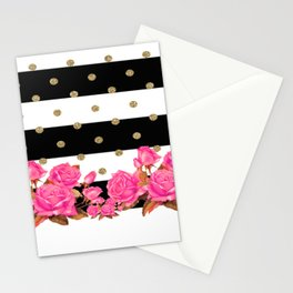 Goldy Flowers Stationery Cards
