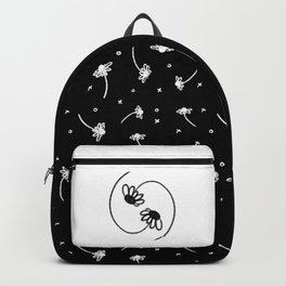 Daisy Yin Yang in Black-on-White Backpack