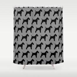 Wire Fox Terrier Silhouette(s) Shower Curtain
