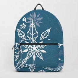 Holly tree snowflake Backpack