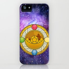 Sailor Moon Crystal stained glass window Transformation Brooch iPhone Case