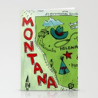 montana Stationery Cards featuring MONTANA by Christiane Engel
