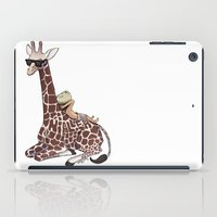 niall iPad Cases featuring Niall and His Giraffe by Ashley R. Guillory