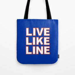 LIVE LIKE LINE Volleyball Tote Bag