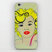 marylin monroe iPhone & iPod Skins featuring Out with Marylin by Irène Sneddon