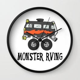 Monster RVing Wall Clock