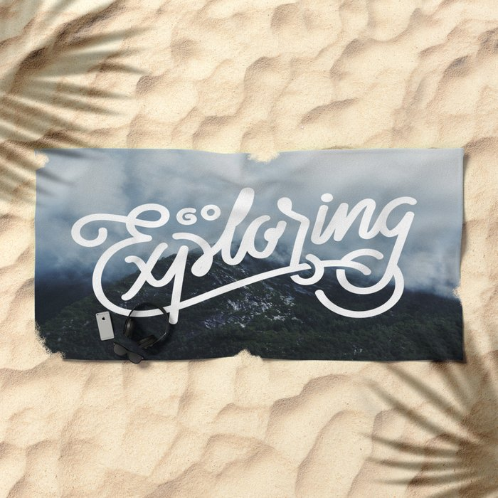 Go Exploring Beach Towel