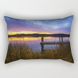 Sunset at Denbigh Pier II Rectangular Pillow
