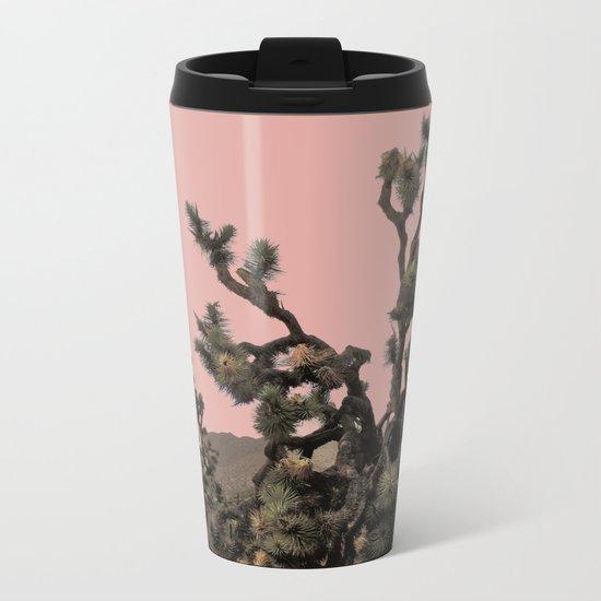 pink joshua tree Metal Travel Mug