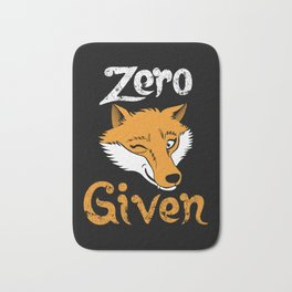 Zero Fox Given | Indifference Wordplay Pun Bath Mat