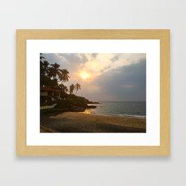 Kovalam Beach Sunset Framed Art Print