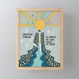 Creating worlds Framed Mini Art Print