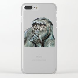 Ishmael, the Gorilla Clear iPhone Case