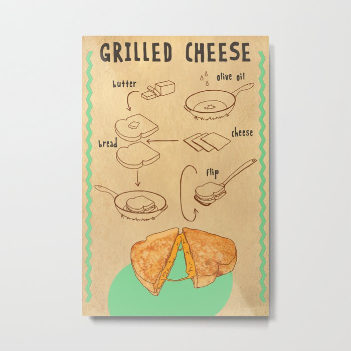 HOW TO: GRILLED CHEESE Metal Print