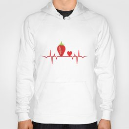 strawberry strawberries drupe heartbeat heartbeat Hoody