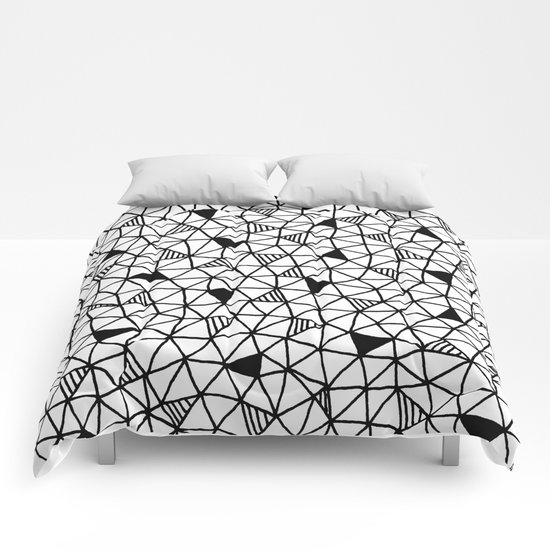 abstract triangle pattern Comforters