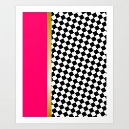 grrls square Art Print