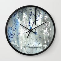 fifth element Wall Clocks featuring Element by Autumn Steam