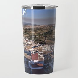Panoramic View of a white town in Andalusia Travel Mug