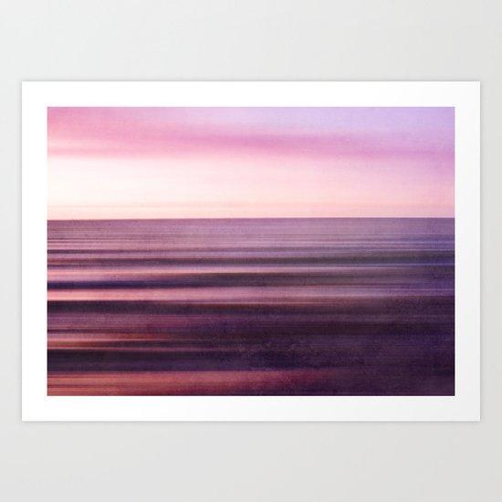 magenta Sea Art Print